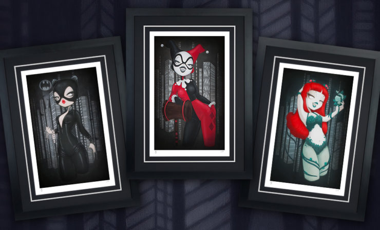 Harley Quinn, Catwoman, and Poison Ivy Unite in the Gotham Girls Fine Art Print Set by Anarkitty