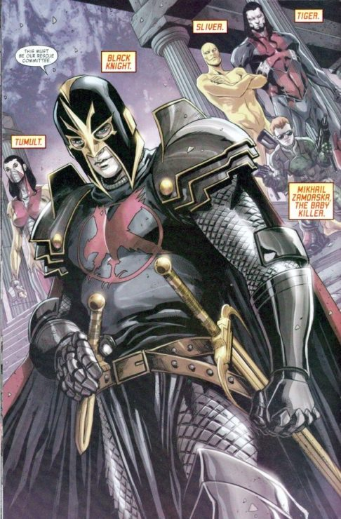 black knight from the marvel comics