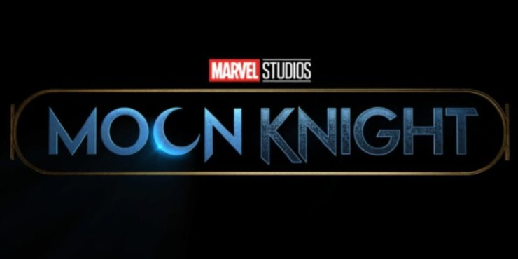 Moon Knight logo with the second O in moon shaped like a crescent moon