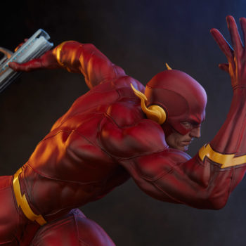 The Flash Premium Format™ Figure Exclusive Edition Top View with Captain Cold Gun