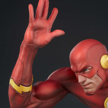 The Flash Premium Format™ Figure Portrait and Right Arm View from Front