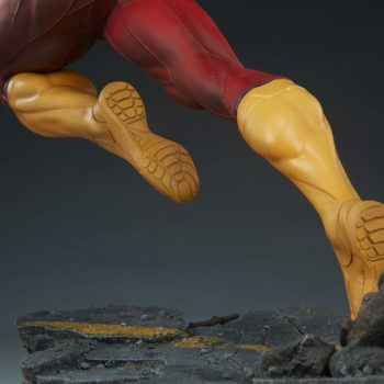 The Flash Premium Format™ Figure Boots and Base Close Up