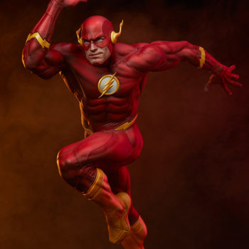 The Flash Premium Format™ Figure with Dramatic Red Lighting