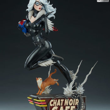 Black Cat Statue- Mark Brooks Artist Series Exclusive Edition Full Figure View