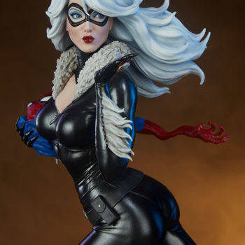 Black Cat Statue- Mark Brooks Artist Series Exclusive Edition with Orange Background