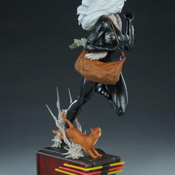 Black Cat Statue- Mark Brooks Artist Series Open Lit Turnaround 6