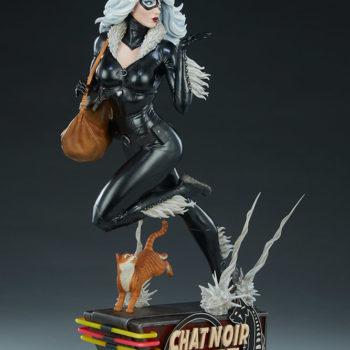 Black Cat Statue- Mark Brooks Artist Series Open Lit Turnaround 8