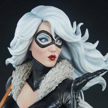 Black Cat Statue- Mark Brooks Artist Series Portrait Close-Up 2