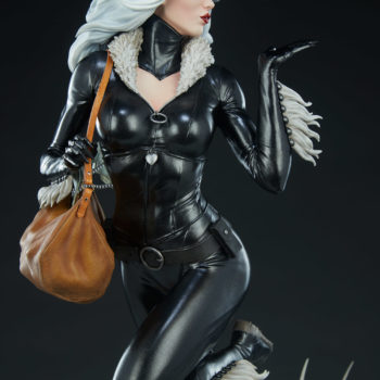 Black Cat Statue- Mark Brooks Artist Series Catsuit Detail from Front