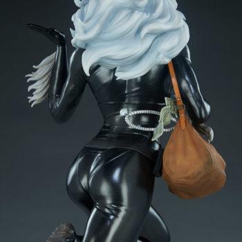 Black Cat Statue- Mark Brooks Artist Series Back of Figure view