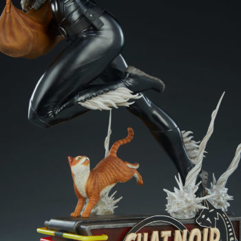 Black Cat Statue- Mark Brooks Artist Series Base with Cat