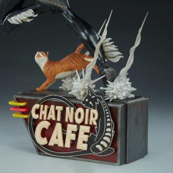 Black Cat Statue- Mark Brooks Artist Series Chat Noir Cafe Base