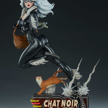 Black Cat Statue- Mark Brooks Artist Series Open Lit Turnaround 1