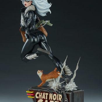 Black Cat Statue- Mark Brooks Artist Series Open Lit Turnaround 2
