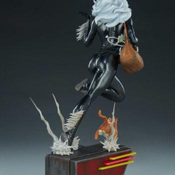 Black Cat Statue- Mark Brooks Artist Series Open Lit Turnaround 4