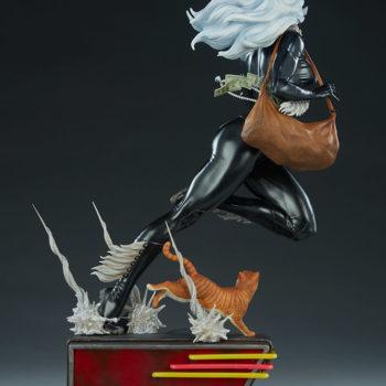 Black Cat Statue- Mark Brooks Artist Series Open Lit Turnaround 5