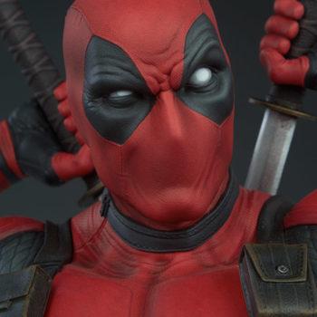Deadpool Bust Portrait Closeup 2