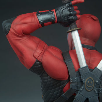 Deadpool Bust Left Arm Detail