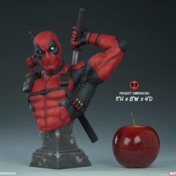 """Deadpool Bust Measurements- 11"""" H x 8"""" W x 4"""" D"""