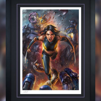 X-23 Fine Art Print by Ian MacDonald Black Framed Edition