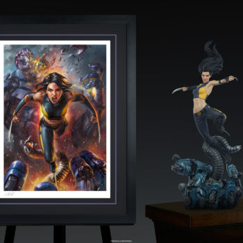 X-23 Fine Art Print by Ian MacDonald Black Framed with Premium Format™ Figure