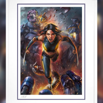 X-23 Fine Art Print by Ian MacDonald White Framed Edition