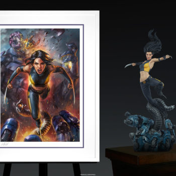 X-23 Fine Art Print by Ian MacDonald White Framed Edition with Premium Format™ Figure
