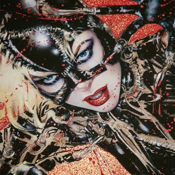 Wildcat XL Deluxe Diamond Dust Fine Art Print Close Up on Michelle Pfeiffer Portrait