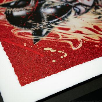 Wildcat XL Deluxe Diamond Dust Fine Art Print Corner Edge with Sparkling Effect