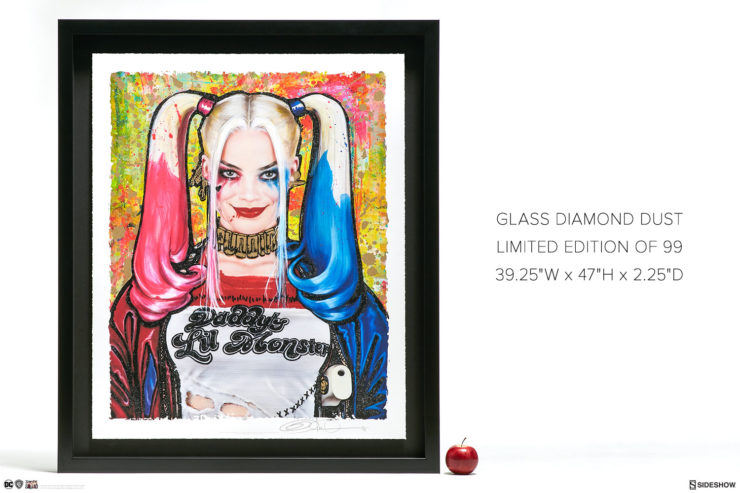 Harley Quinn: Daddy's Lil Monster XL Deluxe Diamond Dust Fine Art Print, Limited Edition 99