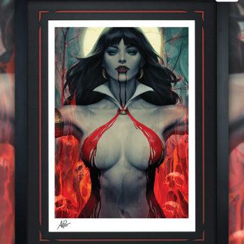 Vampirella #2 Fine Art Print by Stanley 'Artgerm' Lau Black Framed Edition