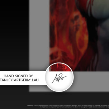 Vampirella #2 Fine Art Print by Stanley 'Artgerm' Lau Hand-Signed on Unframed Edition