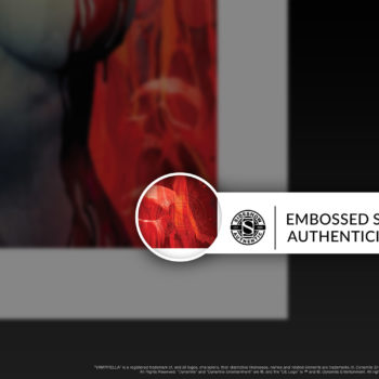 Vampirella #2 Fine Art Print by Stanley 'Artgerm' Lau Embossed Seal of Authenticity on Unframed Edition