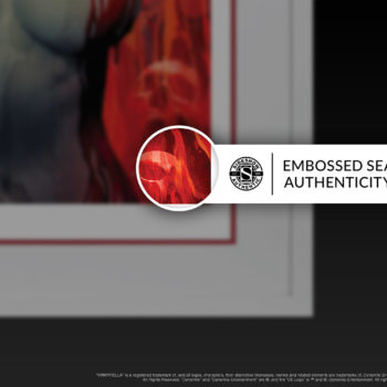 Vampirella #2 Fine Art Print by Stanley 'Artgerm' Lau Embossed Seal of Authenticity on White Framed Edition