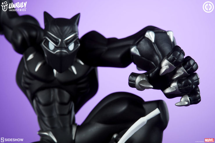 Black Panther Bounds Into Battle in New Photos of T'Challa Designer Toy by Tracy Tubera