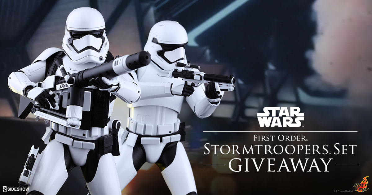 First Order Stormtrooper Sixth Scale Figure Set Newsletter Giveaway!