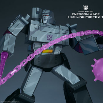 Megatron G1 Museum Scale Statue Exclusive Edition with Smirking Portrait and Energon Mace