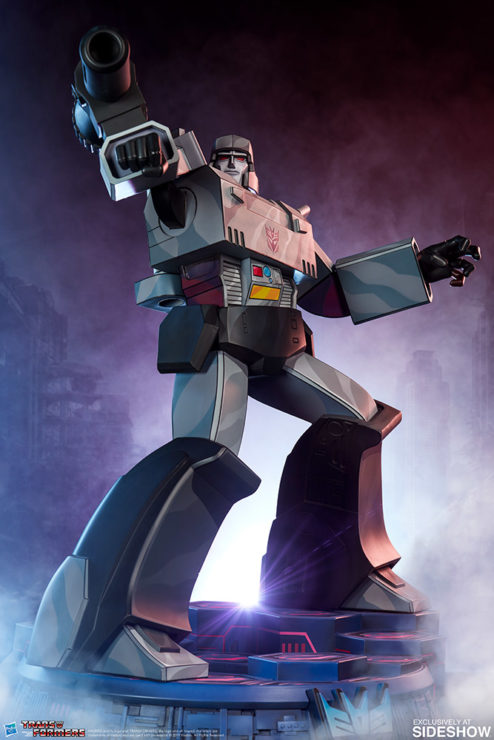 Megatron G1 Museum Scale Statue with Dramatic Lighting