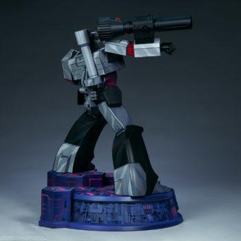 Megatron G1 Museum Scale Statue Open Lit Turnaround 3