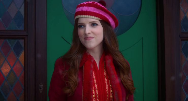 Anna Kendrick smiles in winter clothes