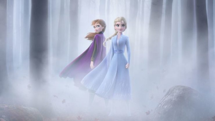 Frozen 2 Elsa and Anna in the woods