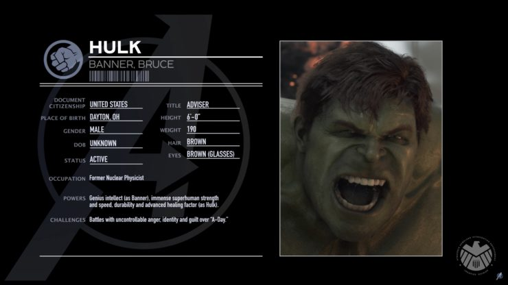New Character Profile for The Hulk in Marvel's Avengers