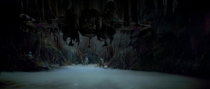 Yoda Raises Luke's X-Wing