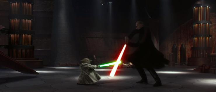 Yoda Duels Darth Tyranus