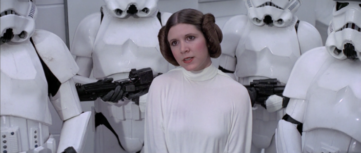 Leia surrounded by Imperial Troops