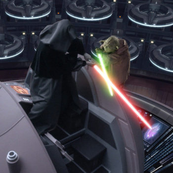 Yoda Fights Emperor Palpatine