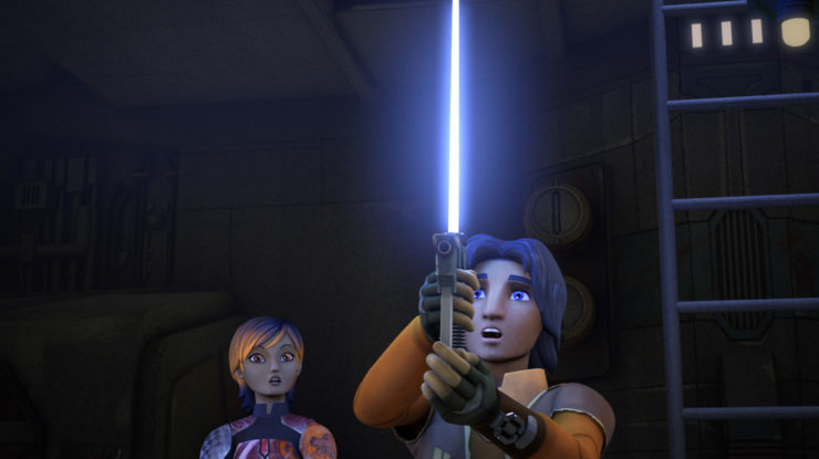 Ezra Bridger Blaster Lightsaber