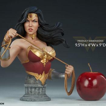 """Wonder Woman Bust Measurements- 9.5"""" H x 9"""" W x 4"""" D"""