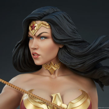 Wonder Woman Bust Close Up on Portrait with Tiara
