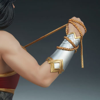 Wonder Woman Bust Right Arm with Lasso Back View
